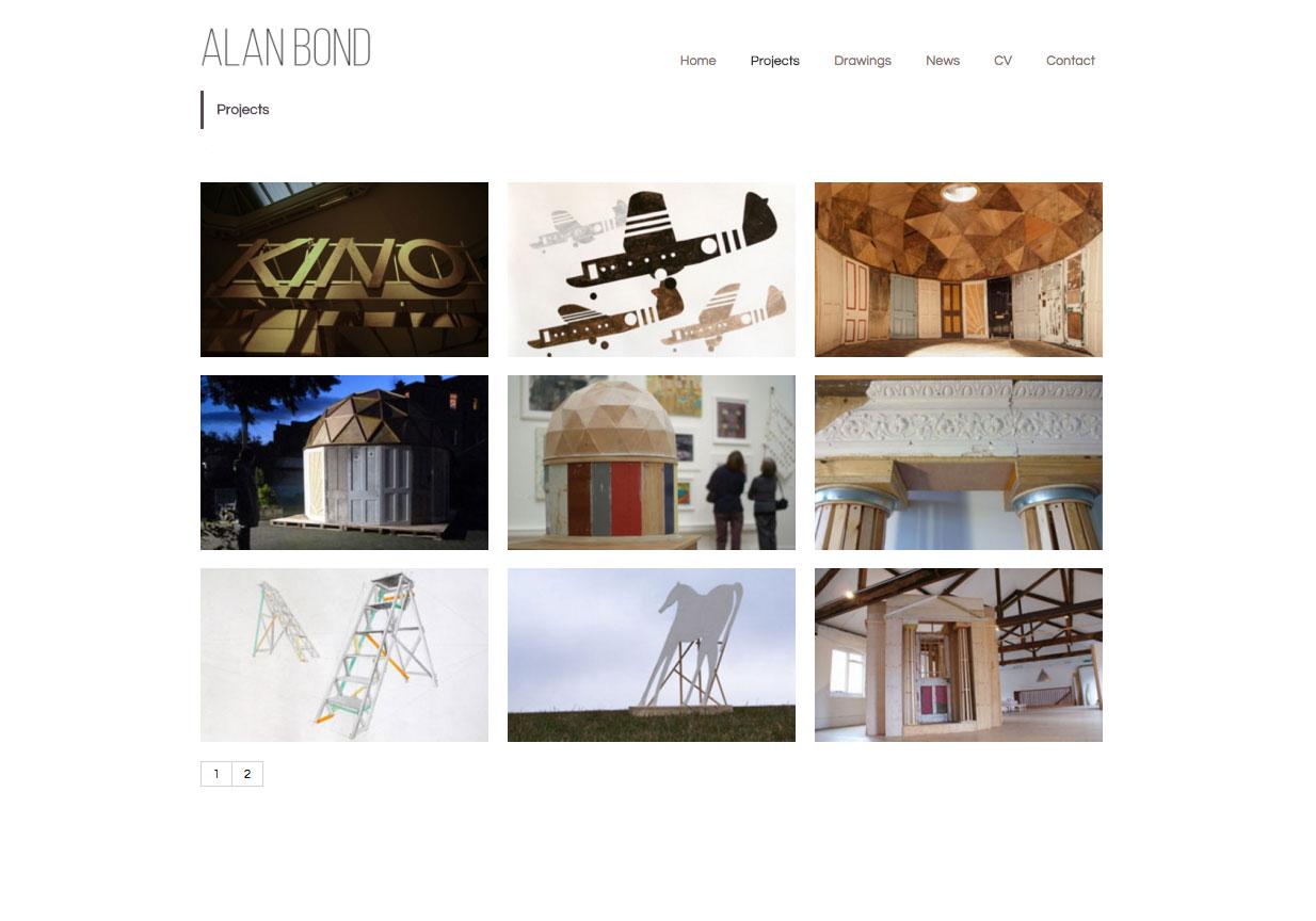 Alan Bond, Website by Julia Douglas