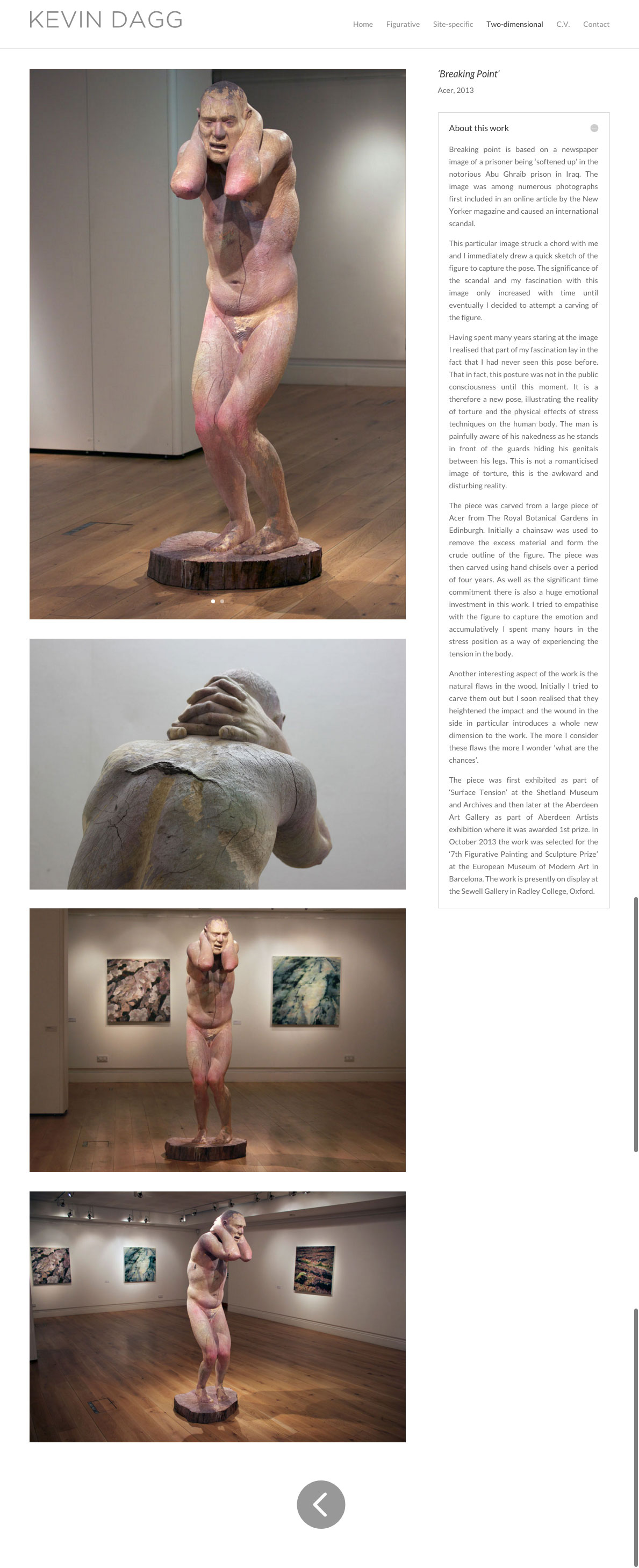 Kevin Dagg, Website by Julia Douglas
