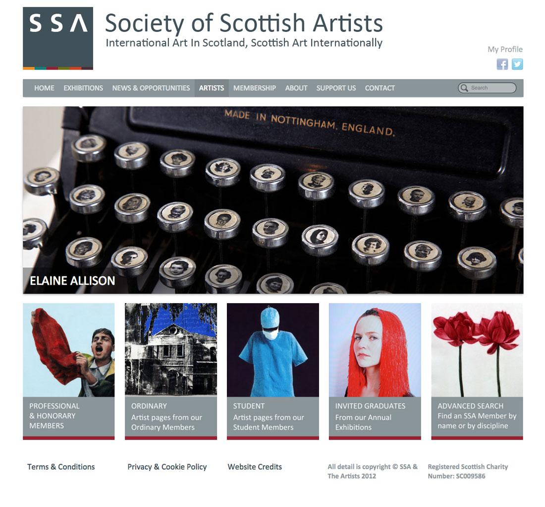 Society Of Scottish Artists, Website by Julia Douglas