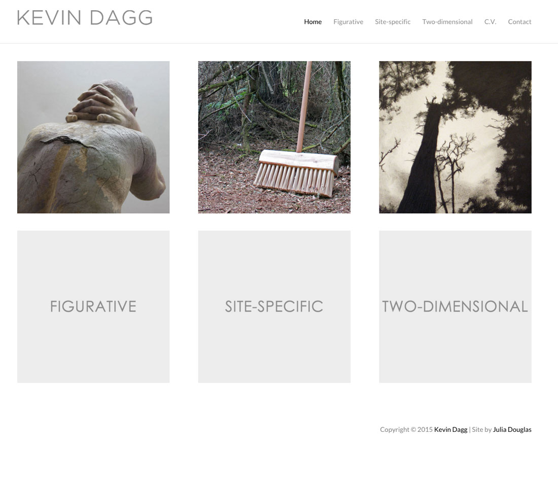 Kevin Dagg, Website by Julia Douglas