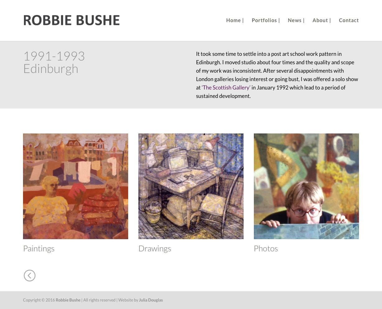 Julia Douglas, Robbie Bushe