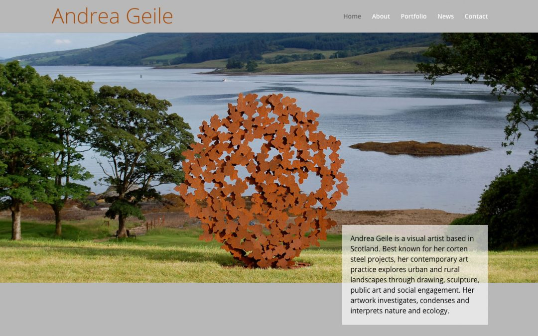 Andrea Geile's Website Coordinates with her Corten Steel Sculptures
