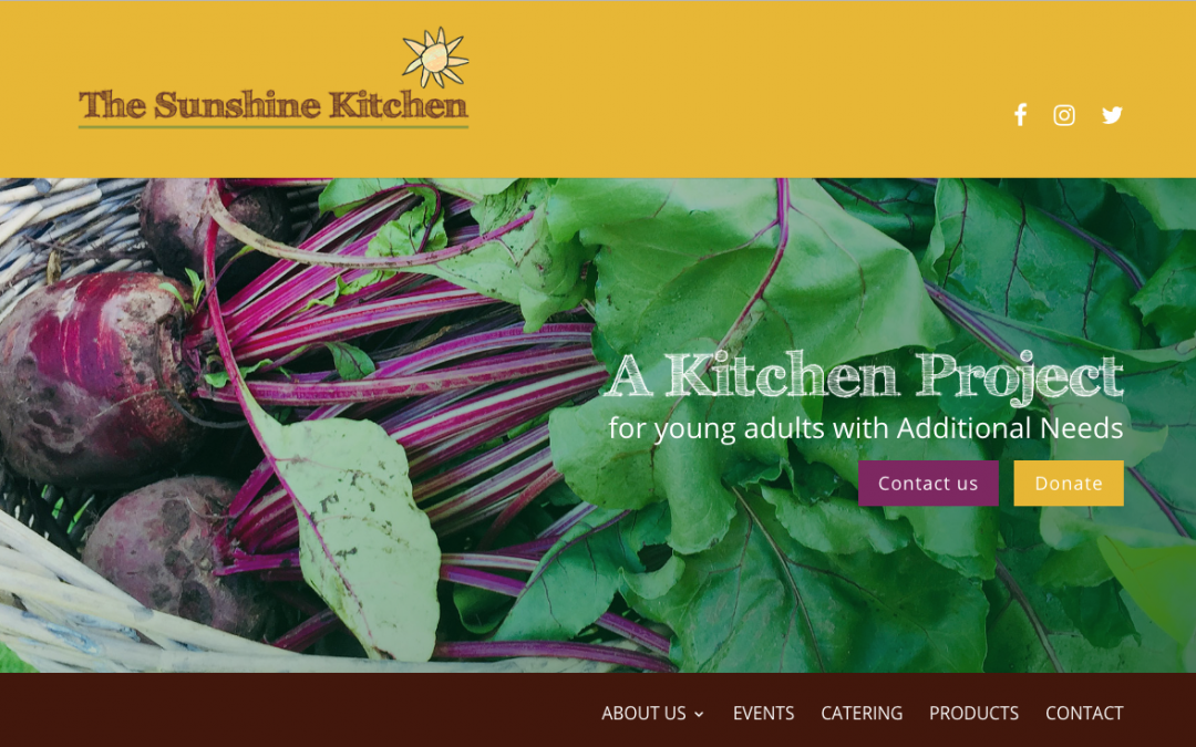Cheerfull Charity Website for The Sunshine Kitchen